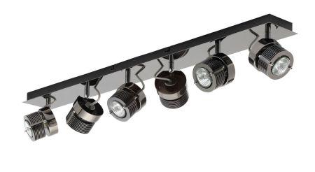 Inlight Pedro 6 Light Bar Spotlight GU10 Black Chrome