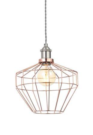Inlight Castor Diamond Wire Easyfit Shade Antique Copper