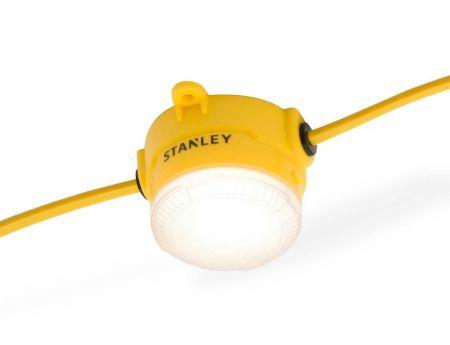 Stanley 110V IP44 10 x 8w LED Festoon Lighting 22 Metres
