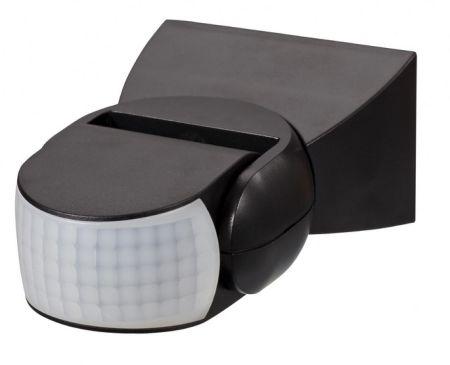 Zinc Dion IP65 Adjustable Motion Sensor with Manual Override Black | ZN-33579-BLK