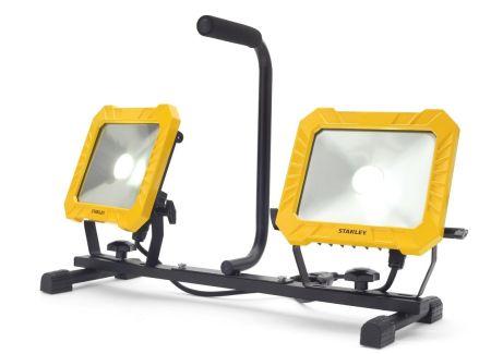 Stanley 240V IP44 Floor Standing Twin LED Work Light