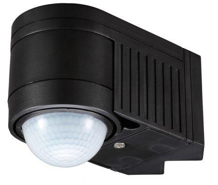 Zinc Alia Corner Mounted Motion Sensor Black | ZN-25152-BLK