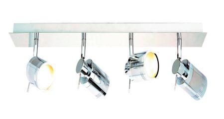SPA SPA-22560-CHR Scorpius GU10 4 Light Bar Spotlight Chrome