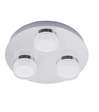 Spa Amalfi 3 Light Spotlight Plate 15w LED Cool White | SPA-31736-CHR