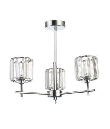 Spa Pegasi G9 Ingot 3 Light Bathroom Ceiling Pendant | SPA-33974-CHR