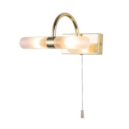 Spa Corvus 2 Light Bathroom Wall Light Satin Brass   SPA-6888.014-SBRS