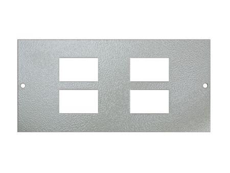 Tass STO284 FloorBox 4 Way RJ45/LJ6C Data Plate