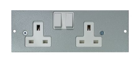 Tass Left Hand Twin Switched Socket STO290/LH