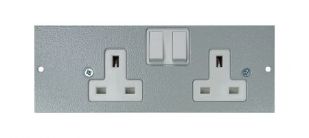 Tass Right Hand Twin Switched Socket STO290/RH