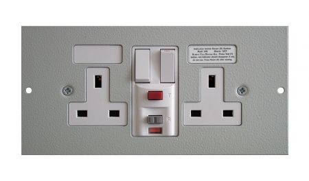 Tass STO291RCD Twin Switched RCD Protected Sockets