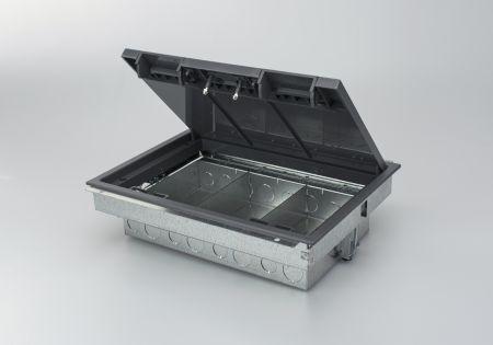 Tass TFB3/80 3 Compartment Floor Box (RCD Compatible)