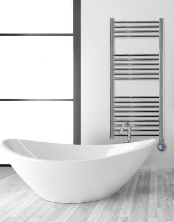 Ascot 400W Towel Rail & 360 Degree Control Polished Chrome   ASCOT400TR/PC