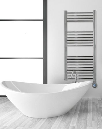 Ascot 700W Towel Rail & 360 Degree Control Polished Chrome   ASCOT700TR/PC