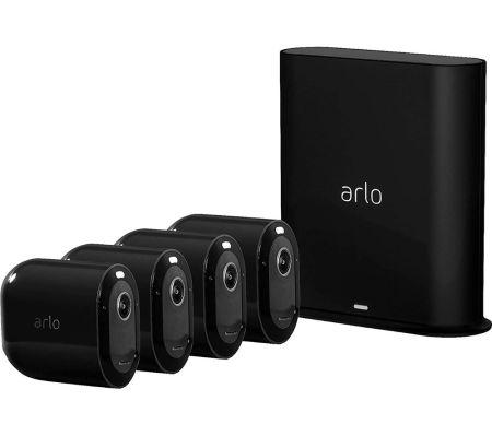 Arlo Pro 3 2K WiFi Security 4 Camera System Black | VMS4440B-100EUS