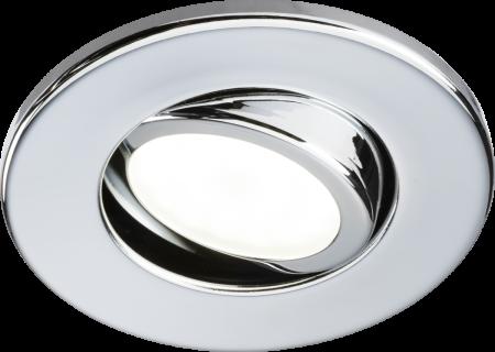 Knightsbridge Tilt GU10 Fire-Rated Downlight Chrome | VFCFTC