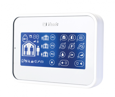 Visonic PowerMaster Wireless Two-Way Touch-Screen Keypad and Proximity White 0-102924