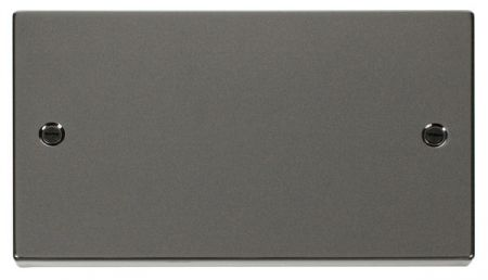 Click Deco Black Nickel 2 Gang Blank Plate VPBN061