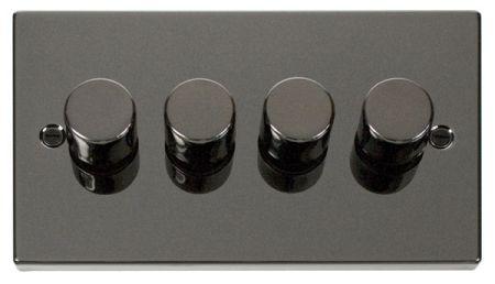 Click Deco Black Nickel 4 Gang 400Va Dimmer Switch VPBN154
