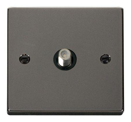 Click Deco Black Nickel Satellite Socket Black Insert VPBN156BK