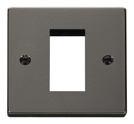 Click Deco Black Nickel Single Aperture Unfurnished New Media Plate VPBN310