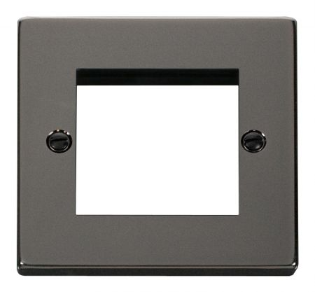Click Deco Black Nickel Twin Aperture Unfurnished New Media Plate VPBN311