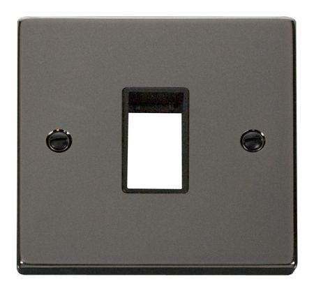 Click Deco Single Aperture Black Nickel Unfurnished Plate Black Insert VPBN401BK
