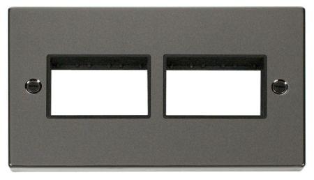 Click Deco (3+3) Aperture Black Nickel Unfurnished Plate Black Insert VPBN406BK