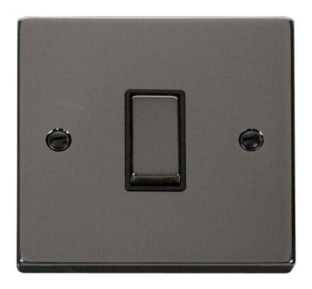 Click Deco Ingot Black Nickel 1 Gang Light Switch Black Insert VPBN411BK