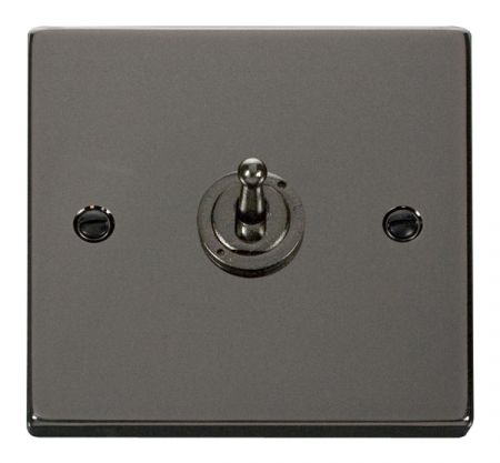 Click Deco Black Nickel 1 Gang 10A Toggle Switch VPBN421