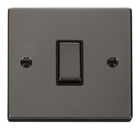 Click Deco Ingot Black Nickel 1 Gang Intermediate Switch Black Insert VPBN425BK