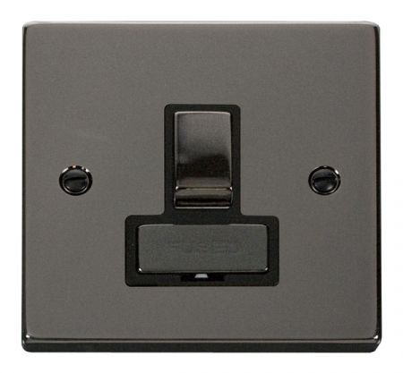 Click Deco Ingot Black Nickel Switched Fused Spur Black Insert VPBN751BK