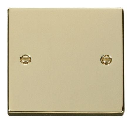 Click Deco Polished Brass 1 Gang Blank Plate VPBR060