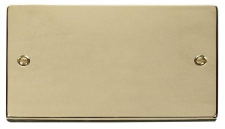 Click Deco Polished Chrome 2 Gang Blank Plate VPCH061