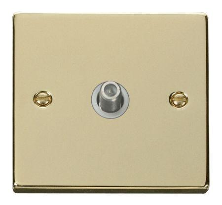 Click Deco Polished Brass Satellite Socket White Insert VPBR156WH
