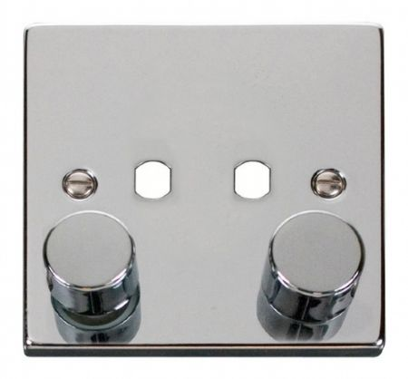 Click Deco Polished Chrome 2G Empty Dimmer Plate | VPCH152PL