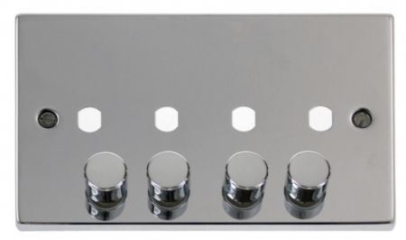 Click Deco Polished Chrome 4G Empty Dimmer Plate | VPCH154PL