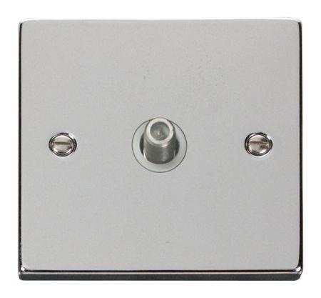 Click Deco Polished Chrome Satellite Socket White Insert VPCH156WH