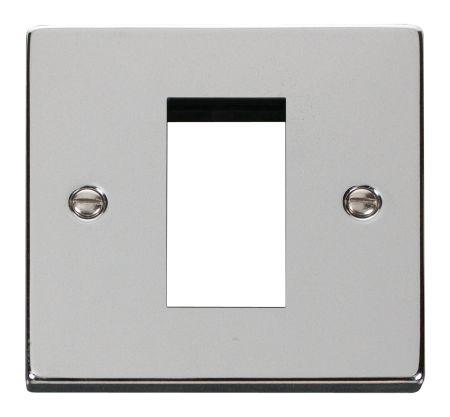 Click Deco Single Aperture Polished Chrome Unfurnished New Media Plate VPCH310