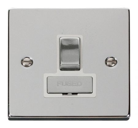 Click Deco Ingot Polished Chrome Switched Fused Spur White Insert VPCH751WH
