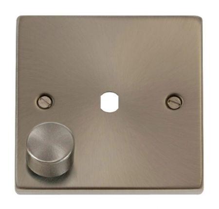 Click Deco Satin Chrome 1G Empty Dimmer Plate   VPSC140PL
