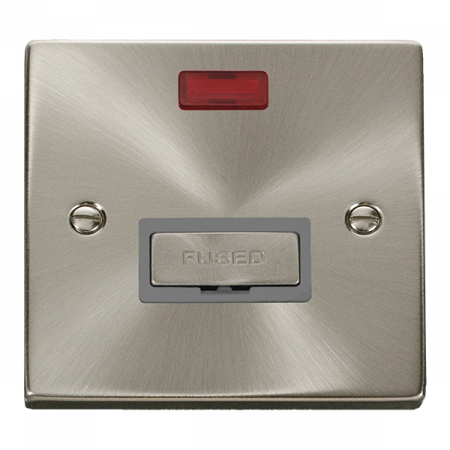 Click Deco Ingot Satin Chrome Unswitched Fused Spur & Neon Grey Insert   VPSC753GY