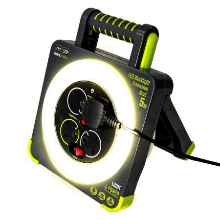 Masterplug Pro-XT 4 Socket LED Work Light Extension Reel | WLU05134SL