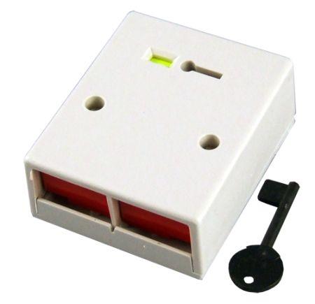 CQR Double Push Panic Button White | PADP2