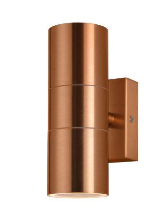 Zinc Leto Up & Down GU10 Wall Light Copper ZN-20941-COP