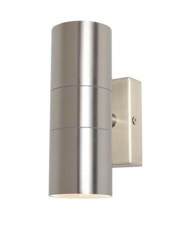 Zinc Leto Up & Down GU10 Wall Light Stainless Steel ZN-20941-SST