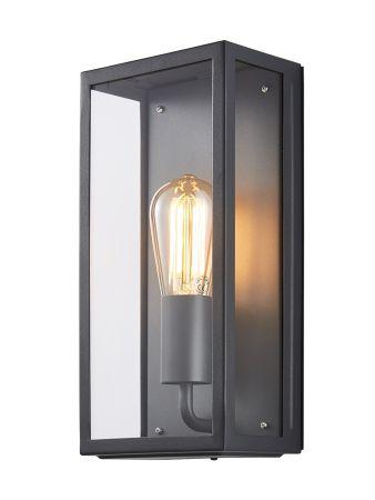 Zinc Minerva Exterior Box Lantern Anthracite | ZN-20944-ANTH