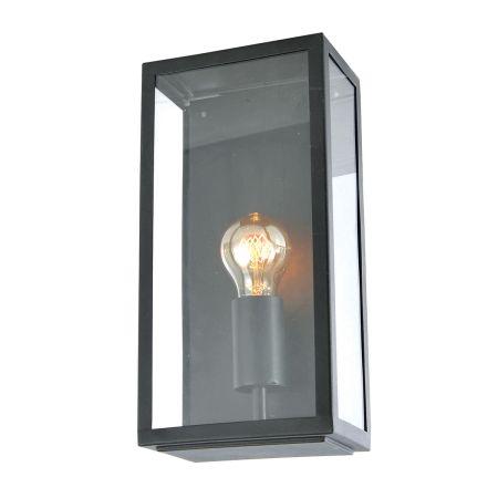 Zinc Minerva Exterior Box Lantern Black ZN-20944-BLK