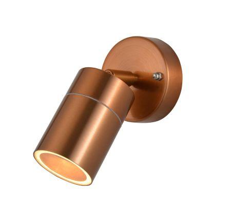 Zinc Leto Adjustable GU10 Wall Light Copper ZN-26536-COP
