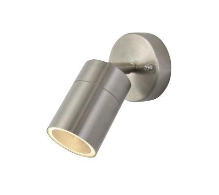 Zinc Leto Adjustable GU10 Wall Light Stainless Steel ZN-26536-SST