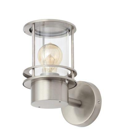Zinc Leonis Miners Style E27 Wall Lantern Stainless Steel | ZN-34002-SST